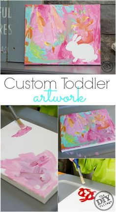 Easy custom toddler artwork worthy of any fireplace or wall gallery. A great way… Easy custom toddler artwork worthy of any fireplace or wall gallery. A great way to inspire creativity in children of all ages even adults. Spring Art, Spring Crafts, Holiday Crafts, Spring Summer, Preschool Crafts, Kids Crafts, Craft Projects, Craft Ideas, Easter Crafts For Toddlers