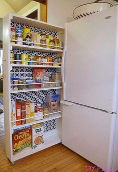 diy space saving rolling kitchen pantry, closet, diy, kitchen design, organizing, storage ideas #kitchenstorageideas #DIY