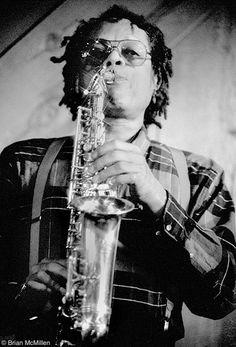 Julius Hemphill at Bach Dancing & Dynamite Society, Half Moon Bay CA with the World Saxophone Quartet 3/6/88  © Brian McMillen
