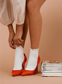 Princess Polly is Australia's best online fashion boutique. Shop women's clothing today & receive express worldwide shipping with easy 30 day returns. Shoes Editorial, Editorial Fashion, Socks And Heels, Ankle Socks, Jeans Heels, Sexy Socks, Pantyhose Heels, Heel Boots, Foto Still