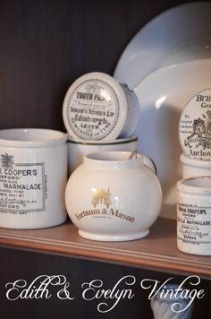 Vintage English Mustard Pot Fortnum and Mason by edithandevelyn on Etsy Vintage Stuff, Vintage Love, Vintage Items, Vintage Shop Display, Vintage Shops, Earthenware, Stoneware, Old Crocks, Dumpster Diving