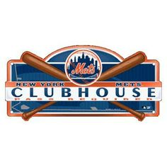New York Mets Wincraft Clubhouse Sign Ny Mets, New York Mets, Plastic Lockers, Mlb Detroit Tigers, Sports Merchandise, Getting Ready For Baby, Room Signs, Logos, Baseball