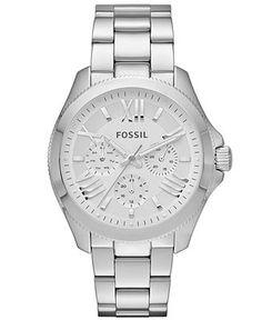 Fossil Watch, Women's Cecile Stainless Steel Bracelet Watch