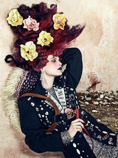 Guinevere Van Seenus by Bjorn Iooss for CR Fashion Book F/W 2016-17.  Fashion editor: Carine Roitfeld  Hair stylist: Julien d'Ys  Makeup artist: Kabuki  Manicurist: Mei Kawajiri