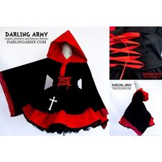 Ruby Rose Inspired Cosplay Kimono Dress by DarlingArmy ❤ liked on Polyvore featuring costumes, role play costumes, cosplay halloween costumes, rubies halloween costumes, rose costume and rubies costumes
