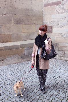 H Blazer, H pants, Acne Shirt, Kost shoes, Balenciaga Bag.