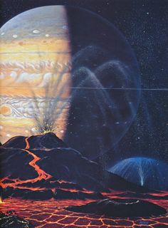 Eruption on Io (2000) by David Hardy from his book Hardyware (2001)