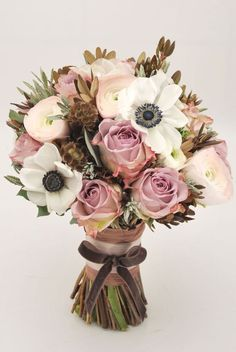Dusty Rose Wedding Bouquet.