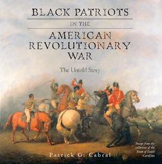 Image of the cover of the book featuring a painting of three british soldiers fighting on horseback wtih swords, and three revolutionary soldiers on horseback, one of which is black and holding a pistol. The book cover image is from the collection of the State of South Carolina.