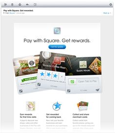 really nice #email design from Square.