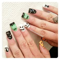 I was so happy to get one of my pretty clients ready for halloween with this acrylic fullset , thank you for spreading and showing your fab nails 😃 ! @bonitaapplebum._  Cindi ☆ enjoyed our girl time. #nailart #nailart2015 #nailartdesign #acrylicnails #acrylic fullset #kleancolorcosmetics #kleancolor #nailstylist #naildesigner #nailartist #nailtechnician #polish #nailpolish #nailaddiction #nailaddictsgroup #nailporn #nailswag #mani #manicure #manicuredesign #squarenails #nailstars…