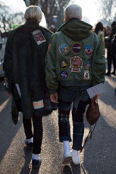 Os patches também estão com tudo na moda masculina.