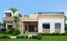 Single story, four bedroom house plan, floor area: 169 square meters