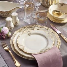 "The ""Mise en place"" most appropriate Dinner Sets, Dinner Table, Romantic Table Setting, Elegant Table, Deco Table, Decoration Table, Fine Dining, Tabletop, Table Settings"