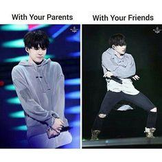"""""""Con i tuoi genitori VS con i tuoi amici"""""""