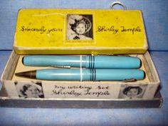SARA BERNSTEIN'S DOLLS on Ruby Lane http://www.rubylane.com/item/475424-KH966/Shirley-Temple-Fountain-Pen-Pencil #shirleytemple