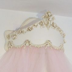 Princess Crown canopy for over a bed or window.