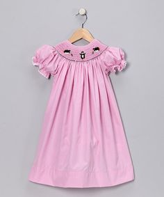 Take a look at this Pink Penguin Smocked Bishop Dress - Infant, Toddler & Girls by Sweet Things: Kids' Apparel on #zulily today!