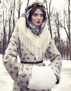 """The Anastasia Of Winter"" | Model: Lindsey Wixson, Photographer: Emma Summerton, Vogue Japan, December 2013"
