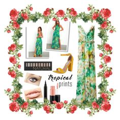"""""""Tropical Prints: Contest Entry"""" by haybeebaby on Polyvore featuring Luxxel, LULUS, Ariella, Steve Madden, Forever 21, Charlotte Tilbury, MAC Cosmetics, MDMflow, tropicalprints and hottropics"""