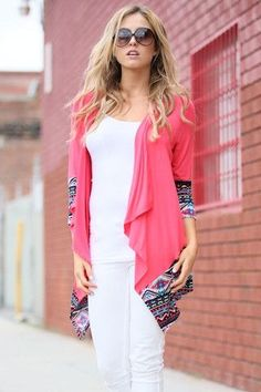 Modern fashionable women choose coral cardigan because fashion recommends you to be feminine and mysterious. Find out right now what to wear a coral cardigan with! Coral Cardigan, Oversized Cardigan, Black Cardigan, Knit Cardigan, Best Cardigans, Coral Top, Lightweight Cardigan, Black Tops, What To Wear