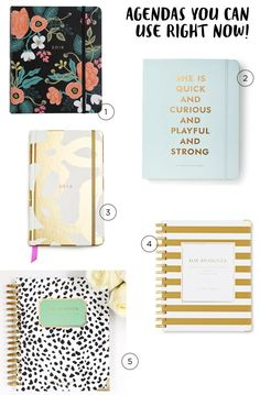 Five 2015-2016 Planners You Can Use Right Now / Oh So Beautiful Paper