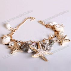 Wholesale Fresh Sea Star Multi-Element Pendant Bracelet For Women (AS THE PICTURE), Bracelets - Rosewholesale.com