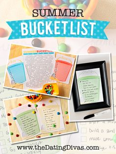 Summer Bucket List - Summer Fun Ideas from The Dating Divas
