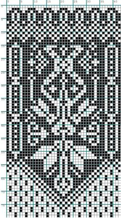 weaving, embroidery or knitting pattern Motif Fair Isle, Fair Isle Chart, Fair Isle Pattern, Knitting Charts, Knitting Stitches, Knitting Designs, Knitting Patterns, Crochet Chart, Filet Crochet