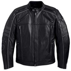 Harley-Davidson Milestone Black Leather Jacket 97149-13VM .