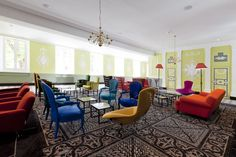 Location: Hotel Jules César, France. Carpet design by Mr. Christian Lacroix in collaboration with ege carpets.