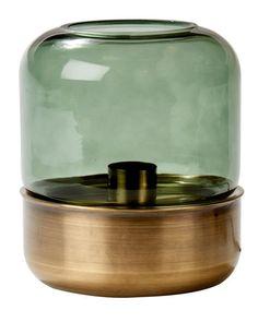 HUMO Lampada da tavolo verde H 22 cm; Ø 18 Jar, Table, Home Decor, Light Bulb Vase, Products, Home, Envy, Decoration Home, Room Decor
