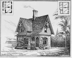 """This little house is from an 1878 architectural publication, called """"American Architect and Building News"""""""