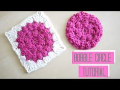 CROCHET: (Bobble stitch) Sunburst granny square tutorial: ROUND ONE | Bella Coco - YouTube