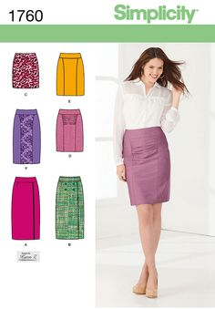 Simplicity 1760 from Simplicity patterns is a Misses' Skirts sewing pattern Skirt Patterns Sewing, Simplicity Sewing Patterns, Clothing Patterns, Skirt Sewing, Diy Clothing, Sewing Clothes, Moda Mania, Mode Inspiration, Dressmaking