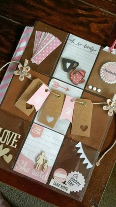 Pocket letter inspiration....banner with tags