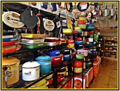 It's a LeCreuset lover's paradise on the 2nd floor of The Cook Shop!