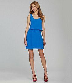 GB Ruffled BowBack Dress #Dillards