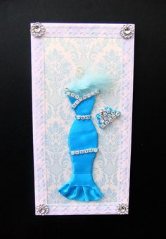 Blue Dress Card