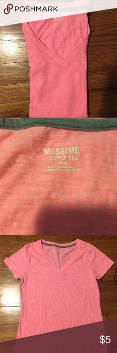 Mossimo pink v neck Comfy v neck relaxed fit t short by target brand mossimo. Work once or twice Mossimo Supply Co Tops Tees - Short Sleeve