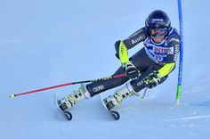 France's Taina Barioz competes during the FIS Alpine World Cup Women Giant Slalom on December 10, 2016 in Sestriere, Italian Alps.  / AFP / GIUSEPPE CACACE