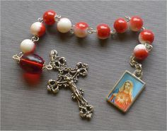 Handmade Religious Immaculate Heart  8mm Red by JaysReligiousGifts