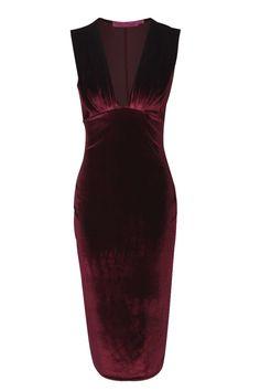 Leanne Pleated Velvet Midi Dress alternative image