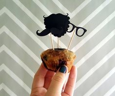 Hipster Beard, Mustache, & Glasses Food Flags by ChaoticCollected on Etsy