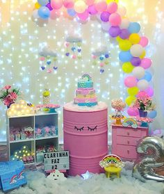25 ideas of faça você mesmo - Birthday FM : Home of Birtday Inspirations, Wishes, DIY, Music & Ideas Little Pony Birthday Party, Unicorn Birthday Parties, 1st Birthday Girls, Balloon Decorations Party, Birthday Party Decorations, Party Themes, Birthday Pictures, First Birthdays, Baby Shower