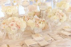 Mmmmm :)  Blush and neutral colored wedding inspirations | San Diego Wedding Blog