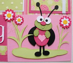 12x12 premade scrapbook pages Lady Bug by gautierdesigns on Etsy