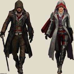 Assassin's Creed minimalistic Collection [Concept Art] Edits made by me :) Assassins Creed Syndicate Evie, Assassins Creed Rogue, Shao Jun, Character Design Inspiration, Character Illustration, Dance Outfits, Custom Clothes, Costumes, Swords