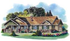 Country Style House Plans - 1493 Square Foot Home, 1 Story, 3 Bedroom and 2 3 Bath, 2 Garage Stalls by Monster House Plans - Plan Home Design Floor Plans, Plan Design, House Floor Plans, House Plans One Story, Ranch House Plans, Canadian House, Simple House Plans, Monster House Plans, Country Style House Plans
