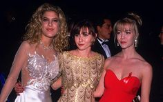Beverly Hills, 90210's Tori Spelling , Shannen Doherty and Jennie Garth at The People's Choice Awards